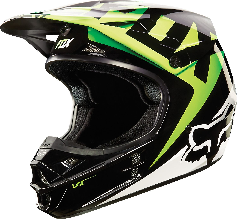 fox helm v1 race black green 2015 racewear for ladies. Black Bedroom Furniture Sets. Home Design Ideas
