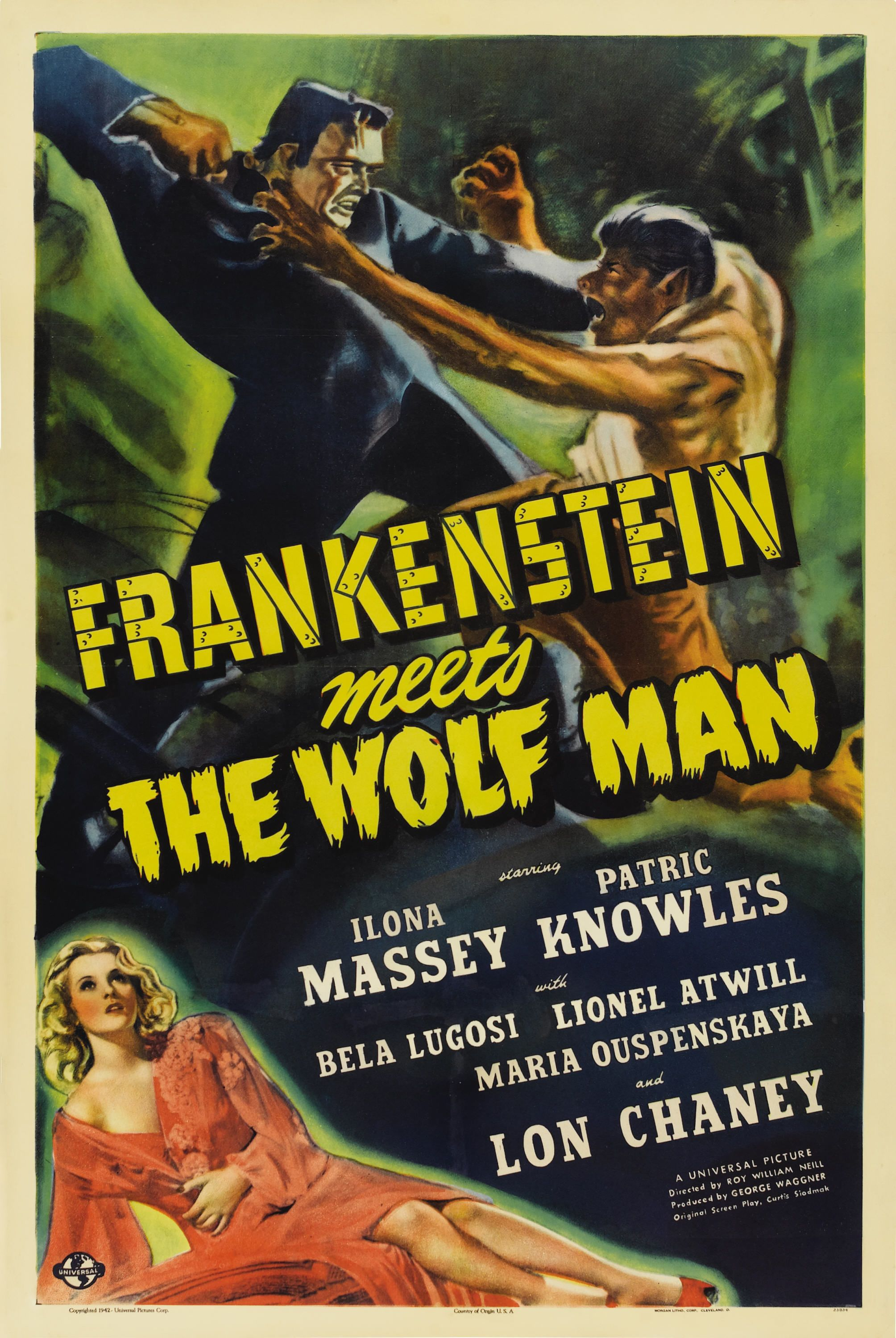 Poster Frankenstein Meets The Wolf Man Oh The Horror