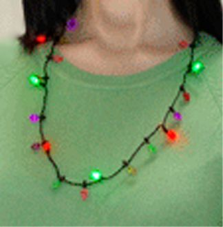 glow christmas lights led flashing necklace holiday party favors httpwww