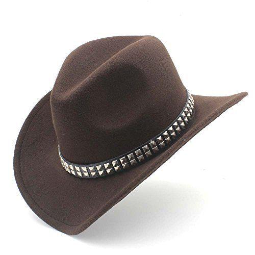 857d344d5f706 XSHYSMB Fashion Western Cowboy Hat with Roll up Brim Felt Cowgirl Sombrero  Caps for Women