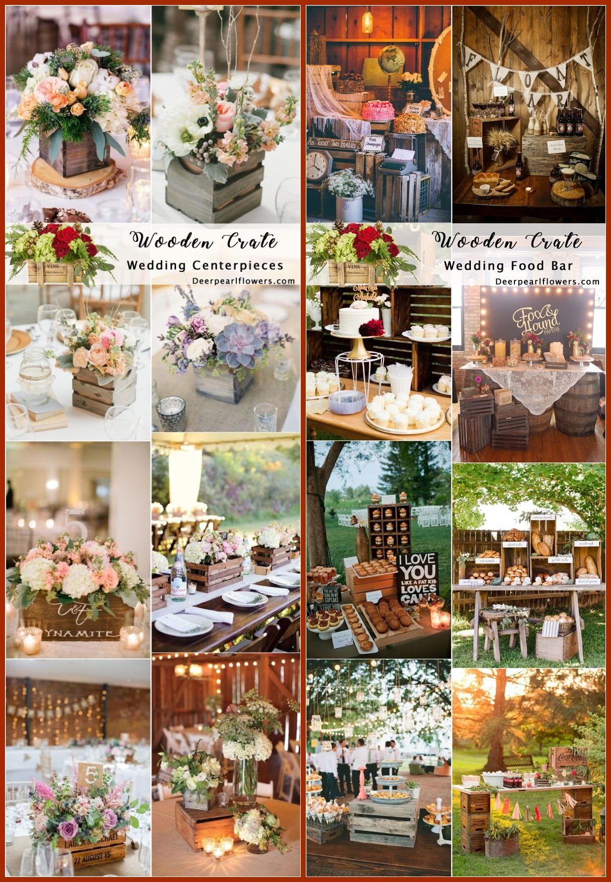 Wedding decorations using pallets october 2018 Rustic Woodsy Wedding Trend  Wooden Crates  Woodsy wedding