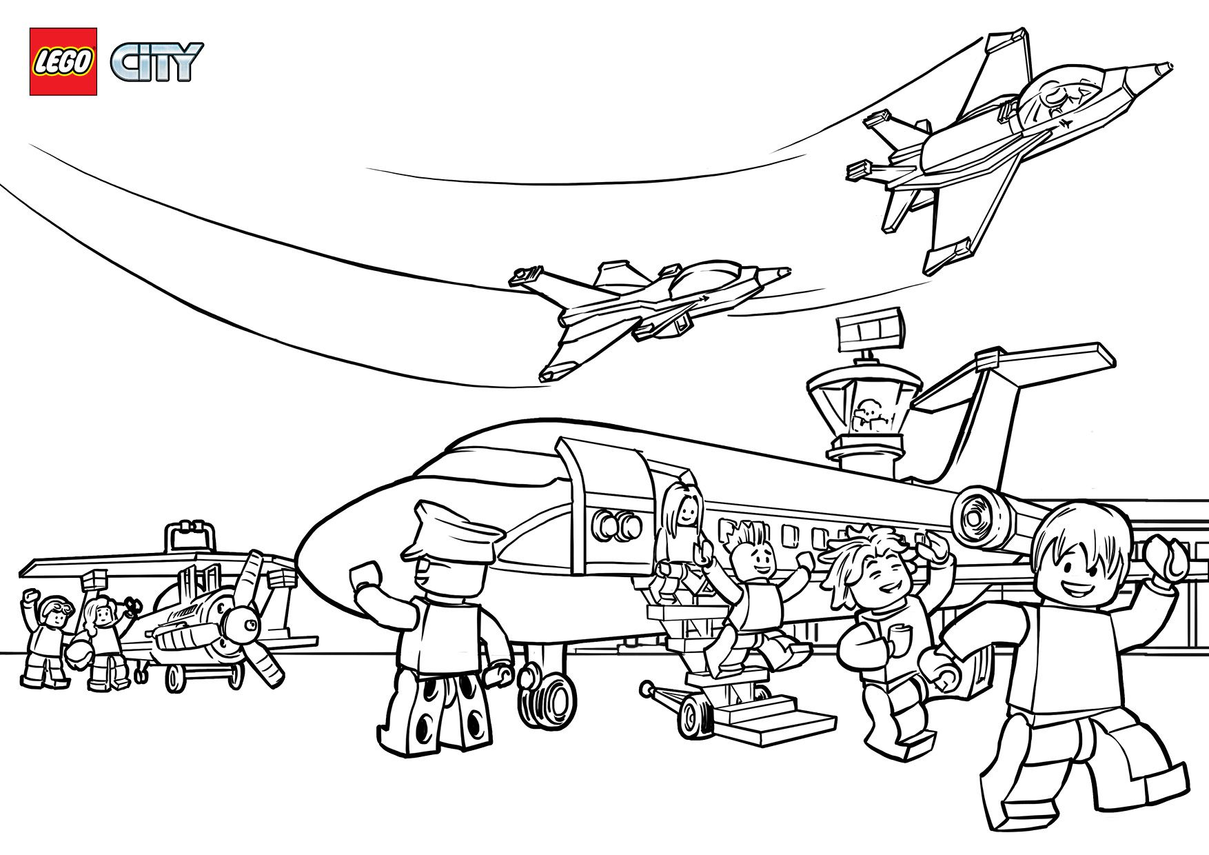 Lego Airport Coloring Pages