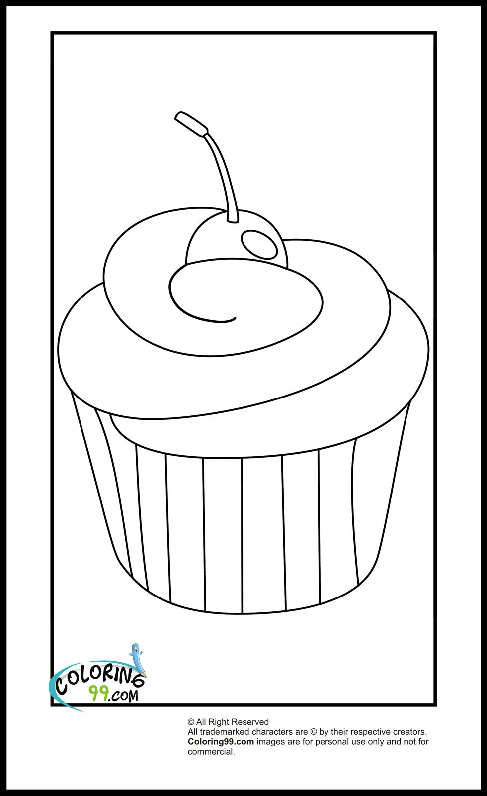 11+ Cupcake coloring pages easy information