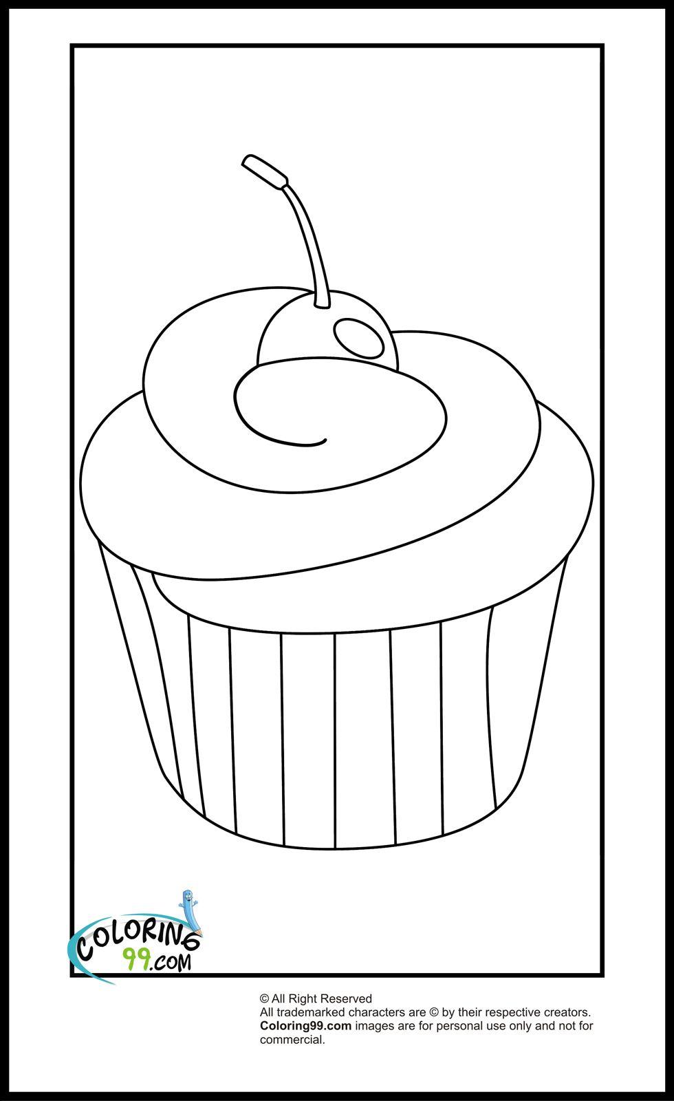 Cupcake Coloring Pages Cupcake Coloring Pages Fruit Coloring Pages Easy Coloring Pages