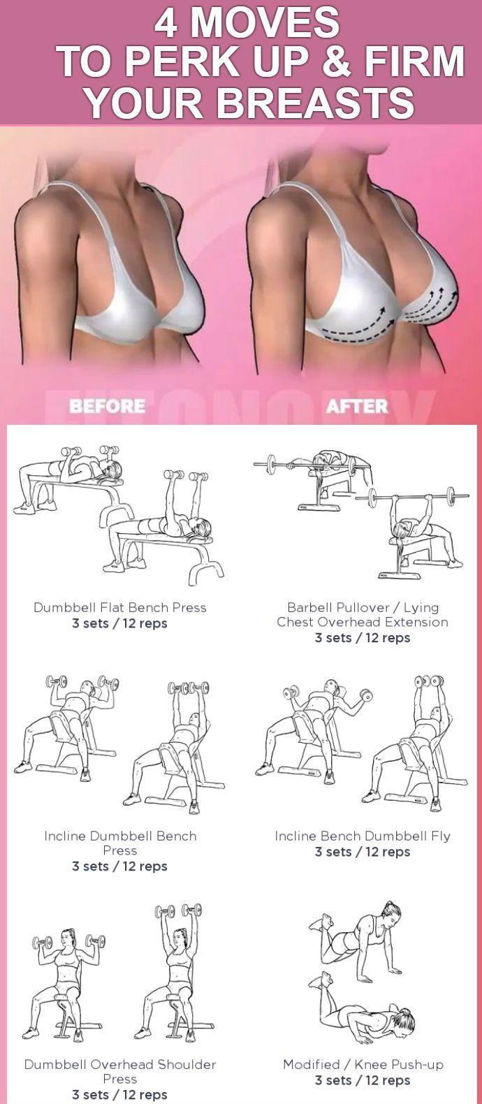 4 einfache Bewegungen zum Heben und Festigen Ihrer Brüste