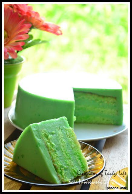 Pandan Kaya Layer Cake -in chinese.. I hope there's an english translation