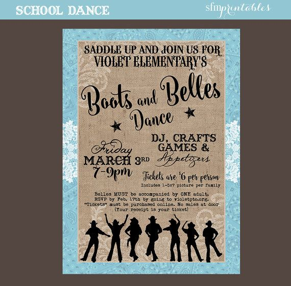 Country Dance Hoedown Throwdown Line Dance Western \/ Template - fundraiser invitation templates