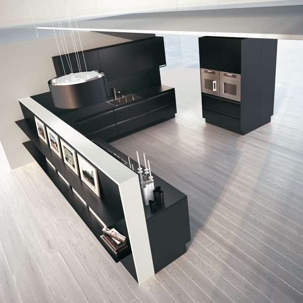 Plana. Exclusive Collection. The kitchen you want to live with. Design by Makio Hasuike & Co. #kitchen #design #minimal #black