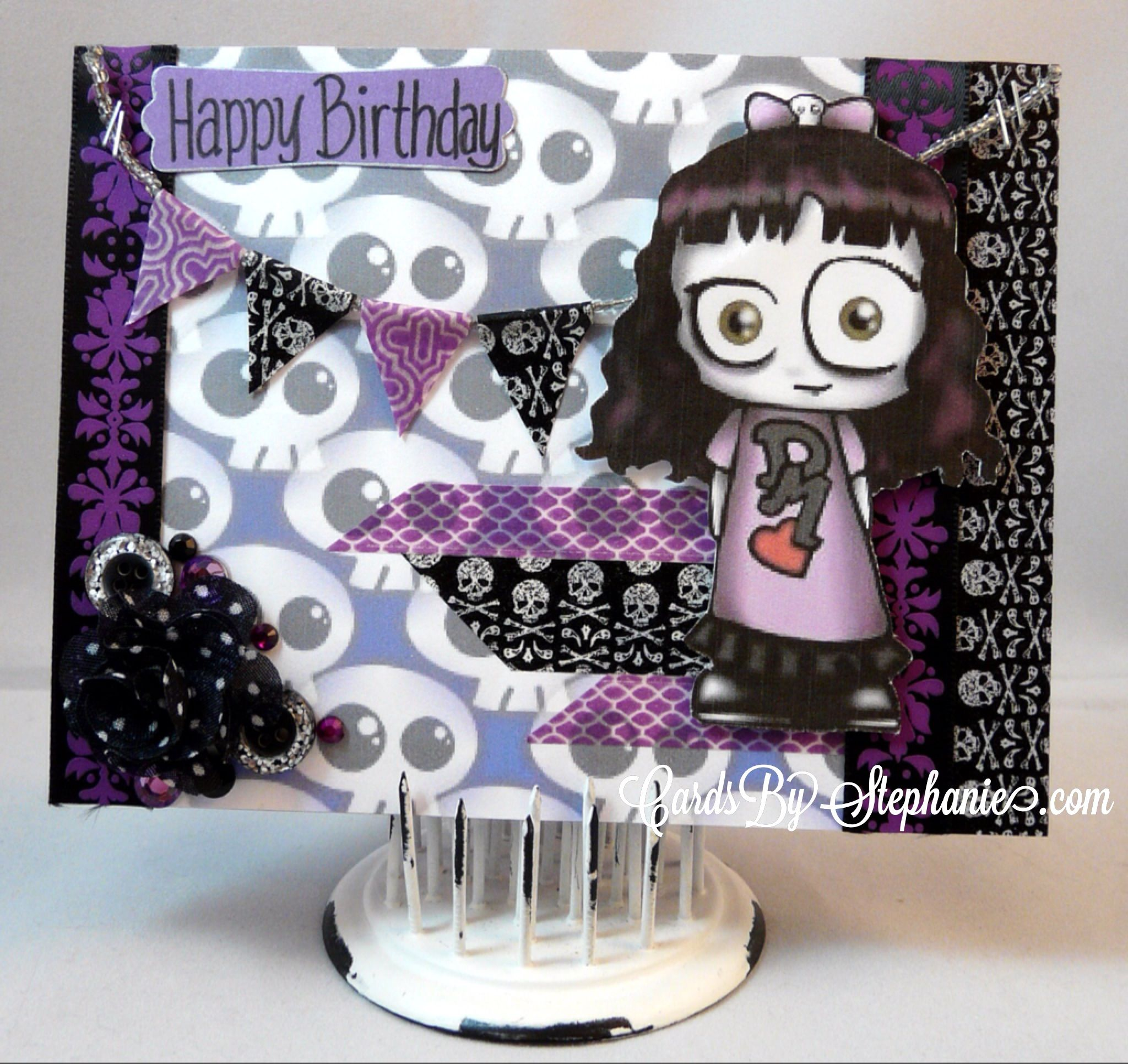Happy birthday card for a depeche mode fan goth skulls washi happy birthday card for a depeche mode fan goth skulls washi tape via kristyandbryce Images