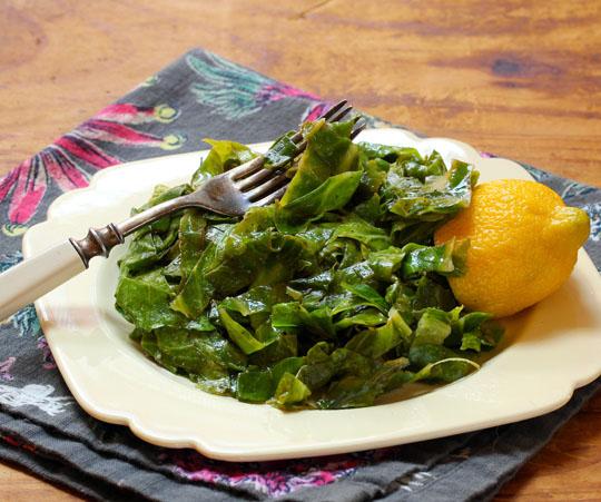 Garden-fresh Collard Greens, Quickly Sautéed With Lemon