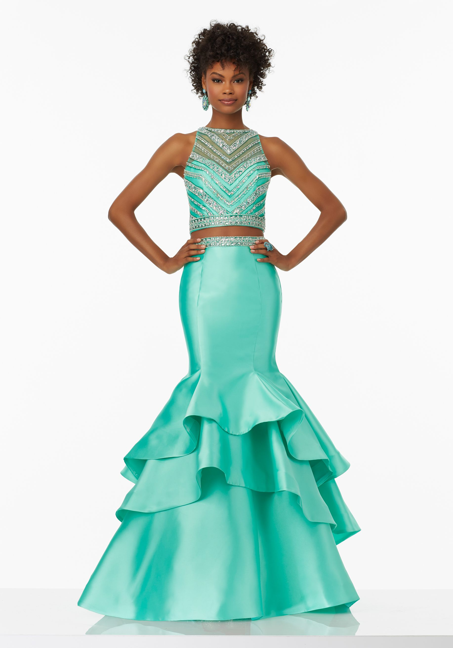 Morilee by Madeline Gardner 99039 | Two-Piece Prom Dress with Beaded ...