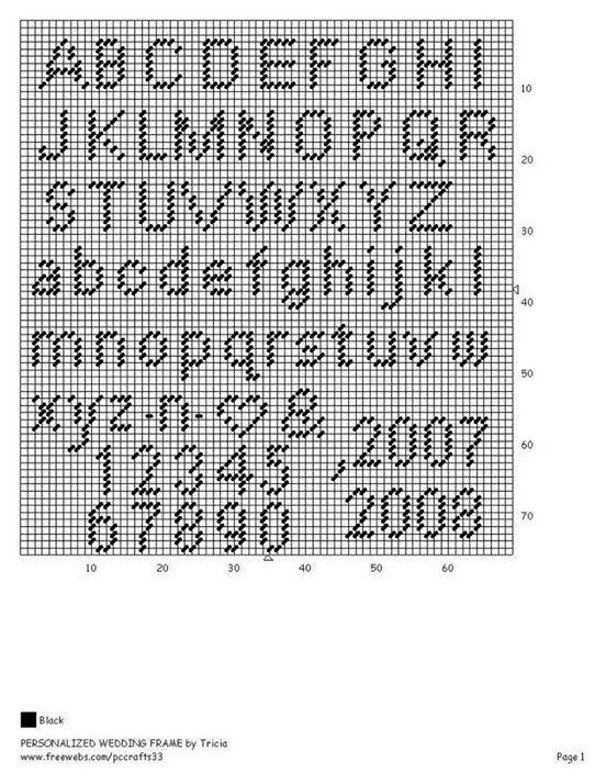 Alphabet & numbers | plastic canvas | Plastic canvas letters
