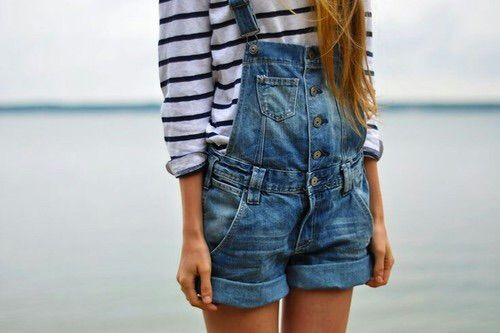 Imagen vía We Heart It #fashion #girl #outfits #overall #style