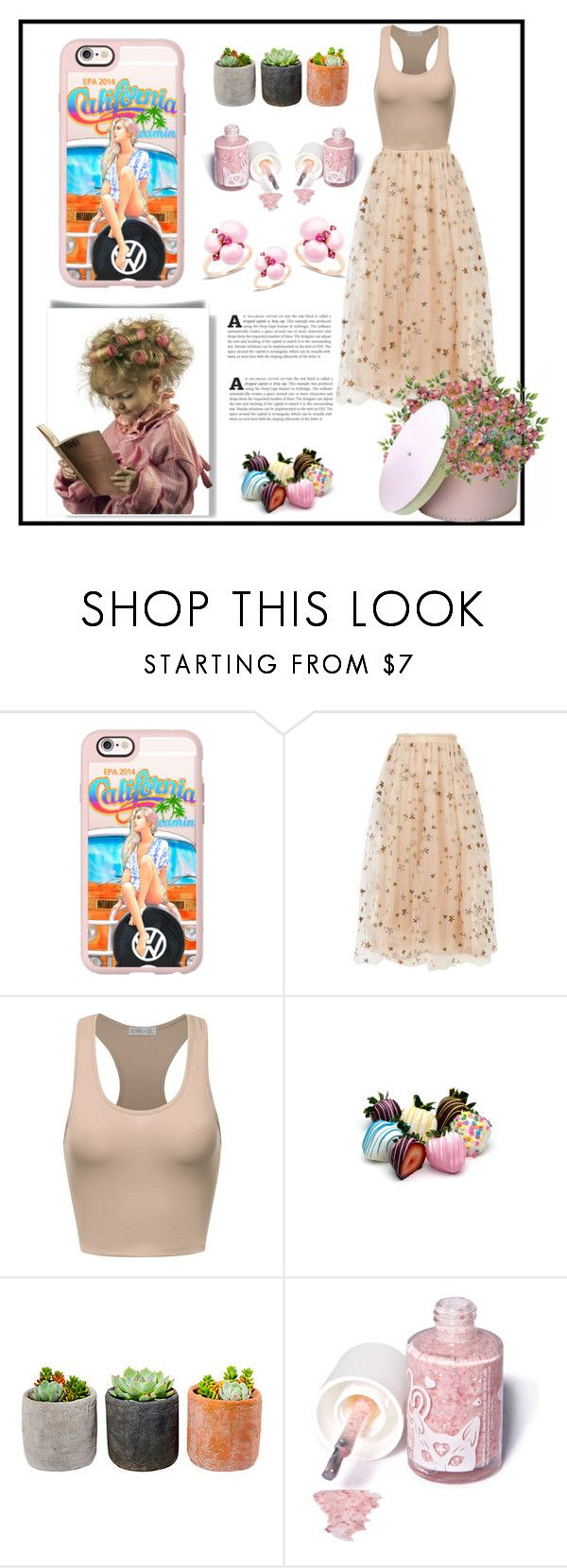 """""""Casetify"""" by queen-317 ❤ liked on Polyvore featuring Casetify, Valentino, Shop Succulents, Sugarpill and Pomellato"""