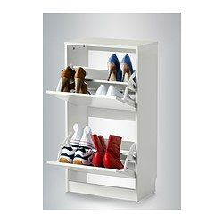 Bissa Armoire A Chaussures 2 Casiers Blanc Armoire A