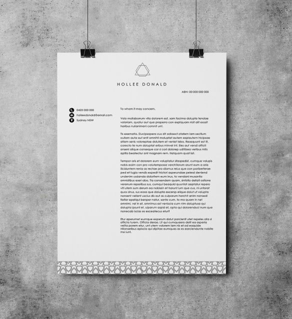 Personal Letterhead Templates  Free Sample Example Format