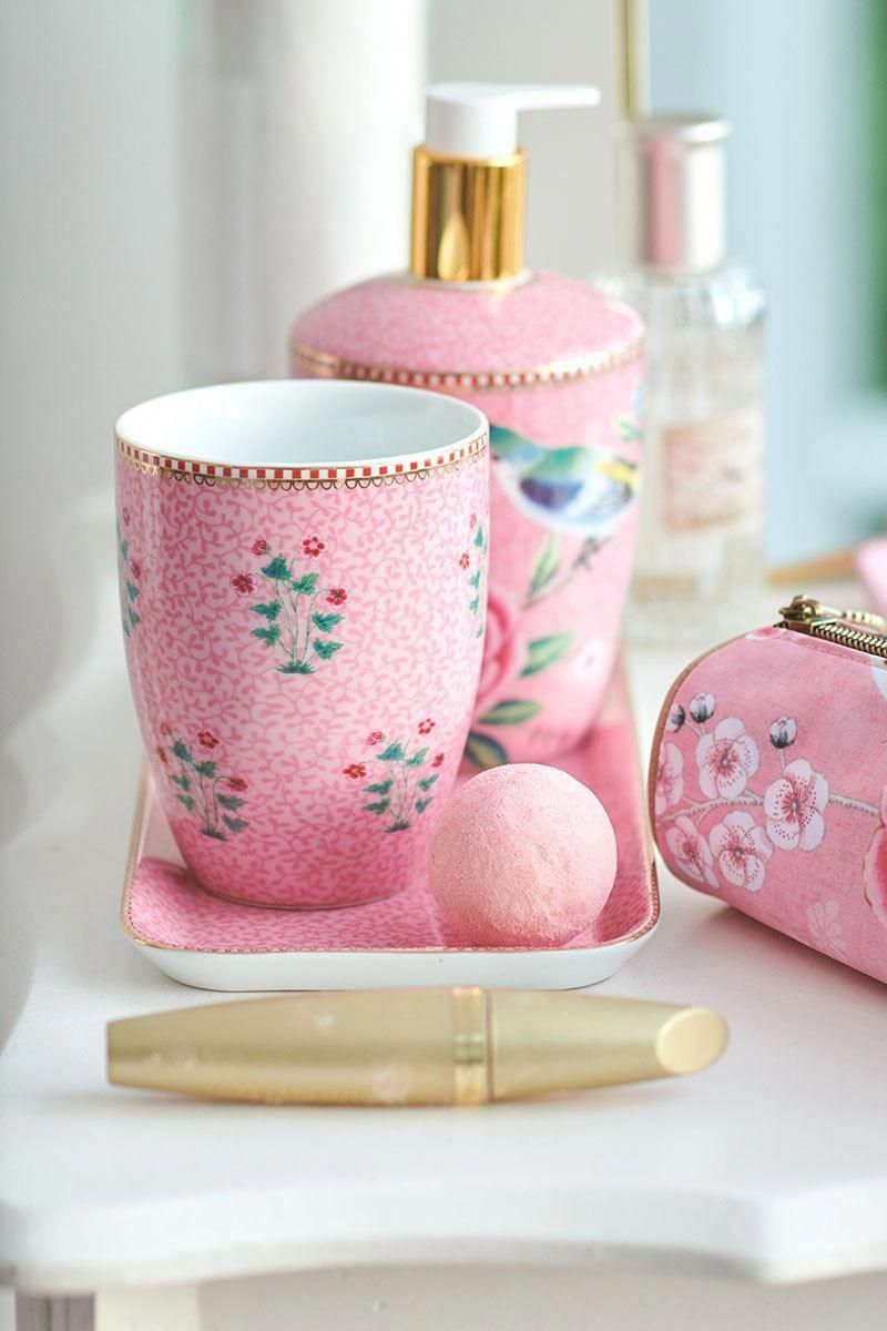 Pip Studio The Official Website Bathroom Accessories Set Floral Good Morning Pink Bathroomfur Bathroom Accessories Sets Pink Bathroom Accessories Pip Studio