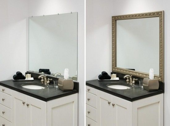 Decorating A Bathroom With Bathroom Mirror Frames   Small Project That Can  Make A Big Difference