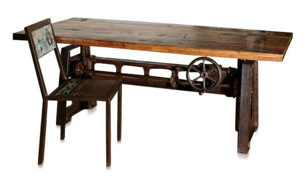 1 Schublade Schreibtisch Mango Massivholz Konsolentisch Recycling Holz Shabby