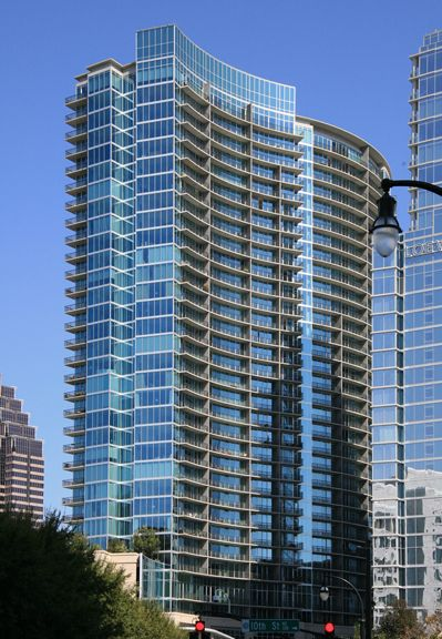 first look: atlanta's priciest, bluest new apartment tower   ash