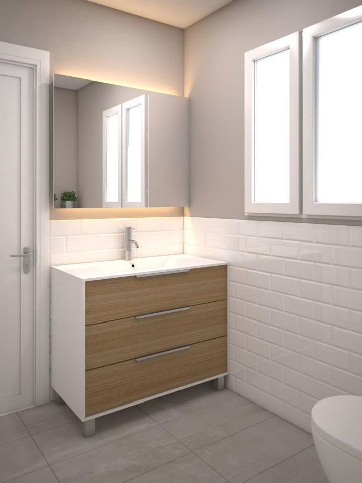 reforma de baños en Barcelona   Baños azulejos blancos ...