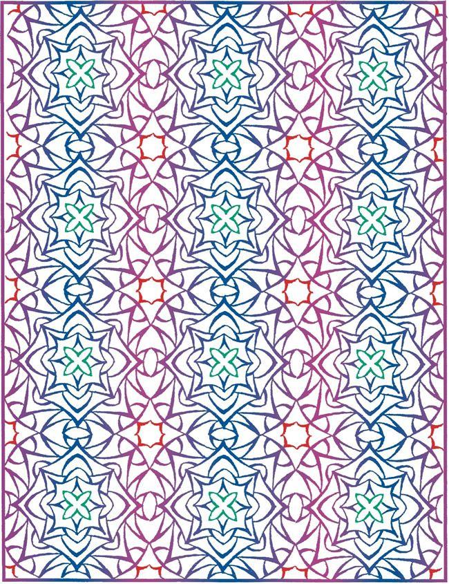 Dover Publications Creative Haven Lotus Designs W A Splash Of Color