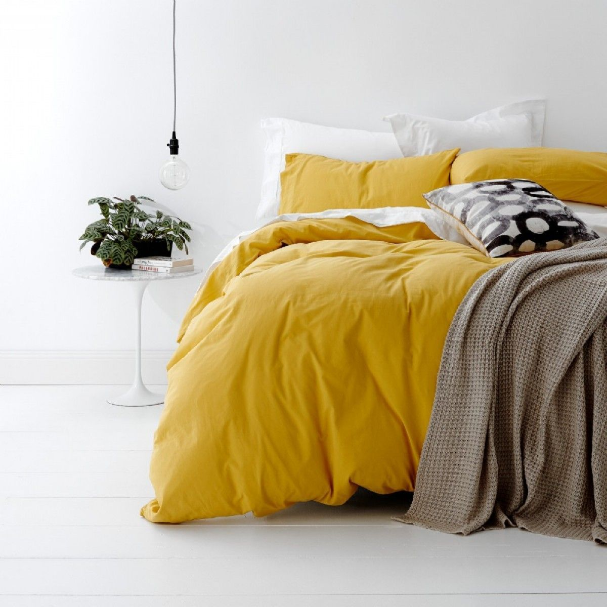Pin By Eve On Bedrooms Bed Linens Luxury Yellow Bedding Yellow Room