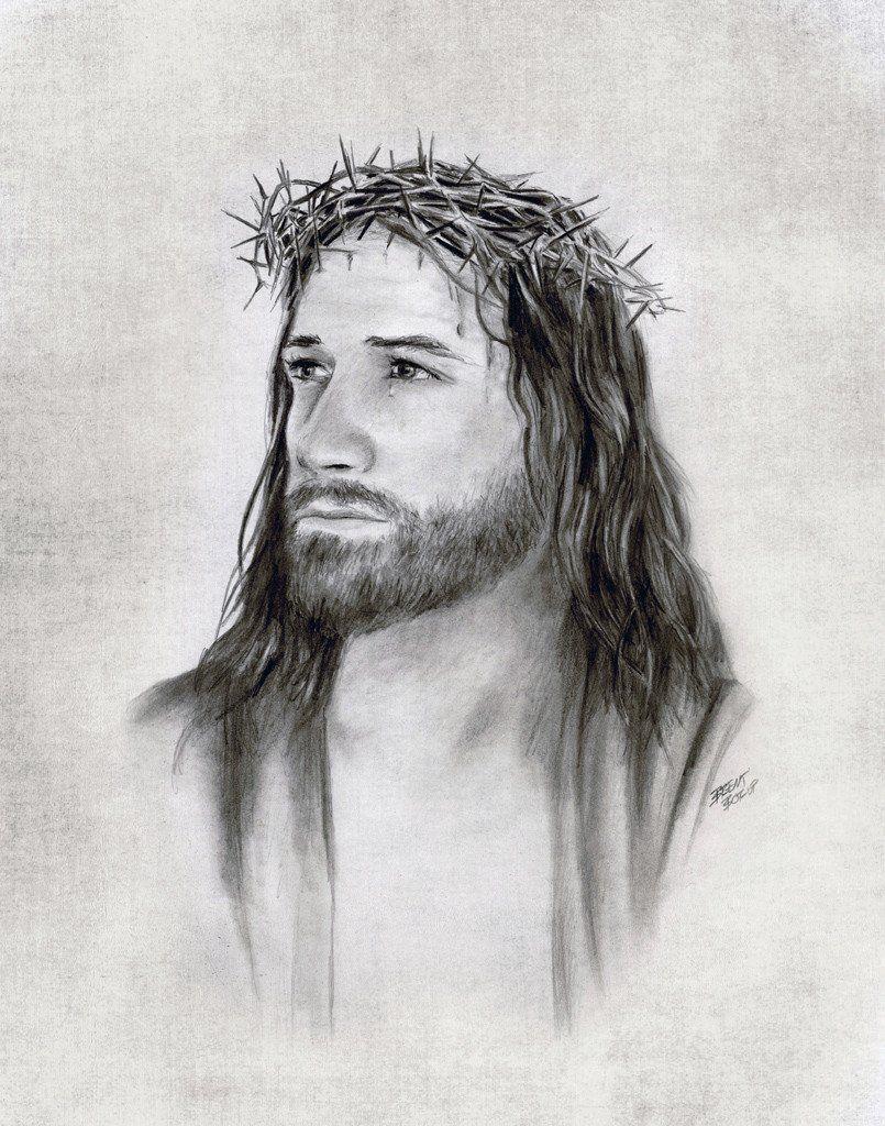 Иисус рисунок карандашом