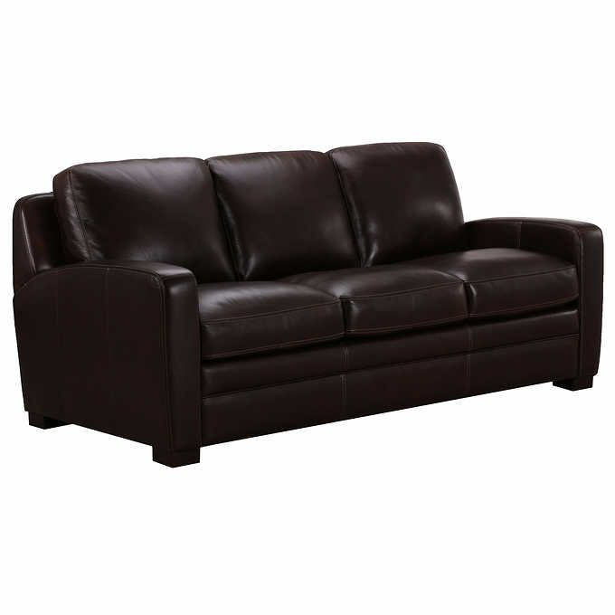 Dreamliner Top Grain Leather Queen Sleeper Sofa Brown
