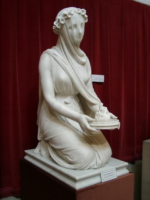 This Marble Statue Of A Veiled Vestal Virgin Made In