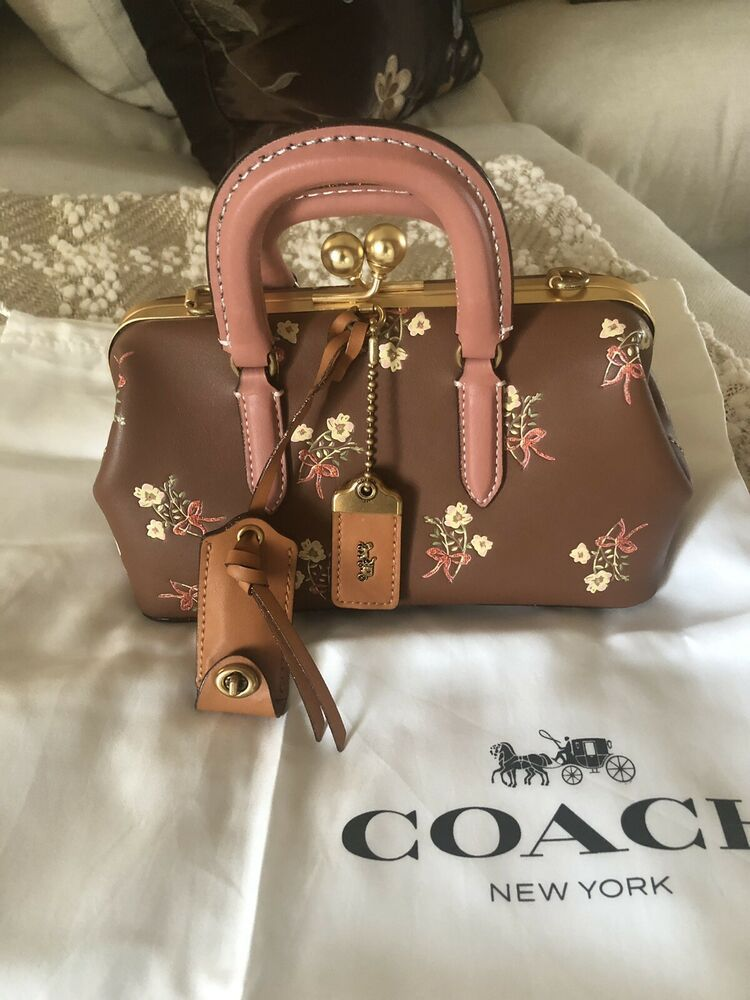 Coach 1941 kisslock satchel floral bag new bags floral
