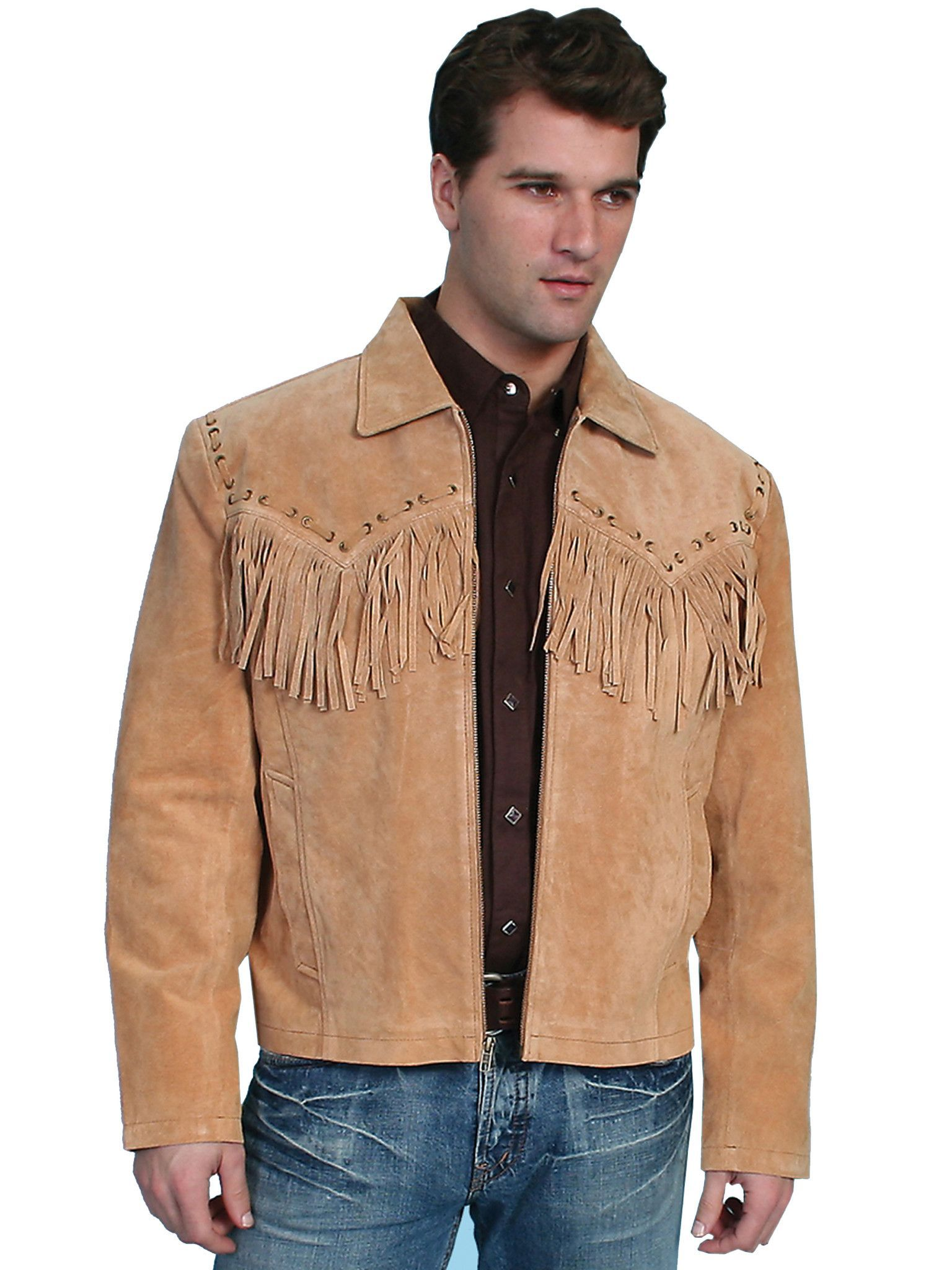 Men's Leather Jacket Collection Scully Western Fringe