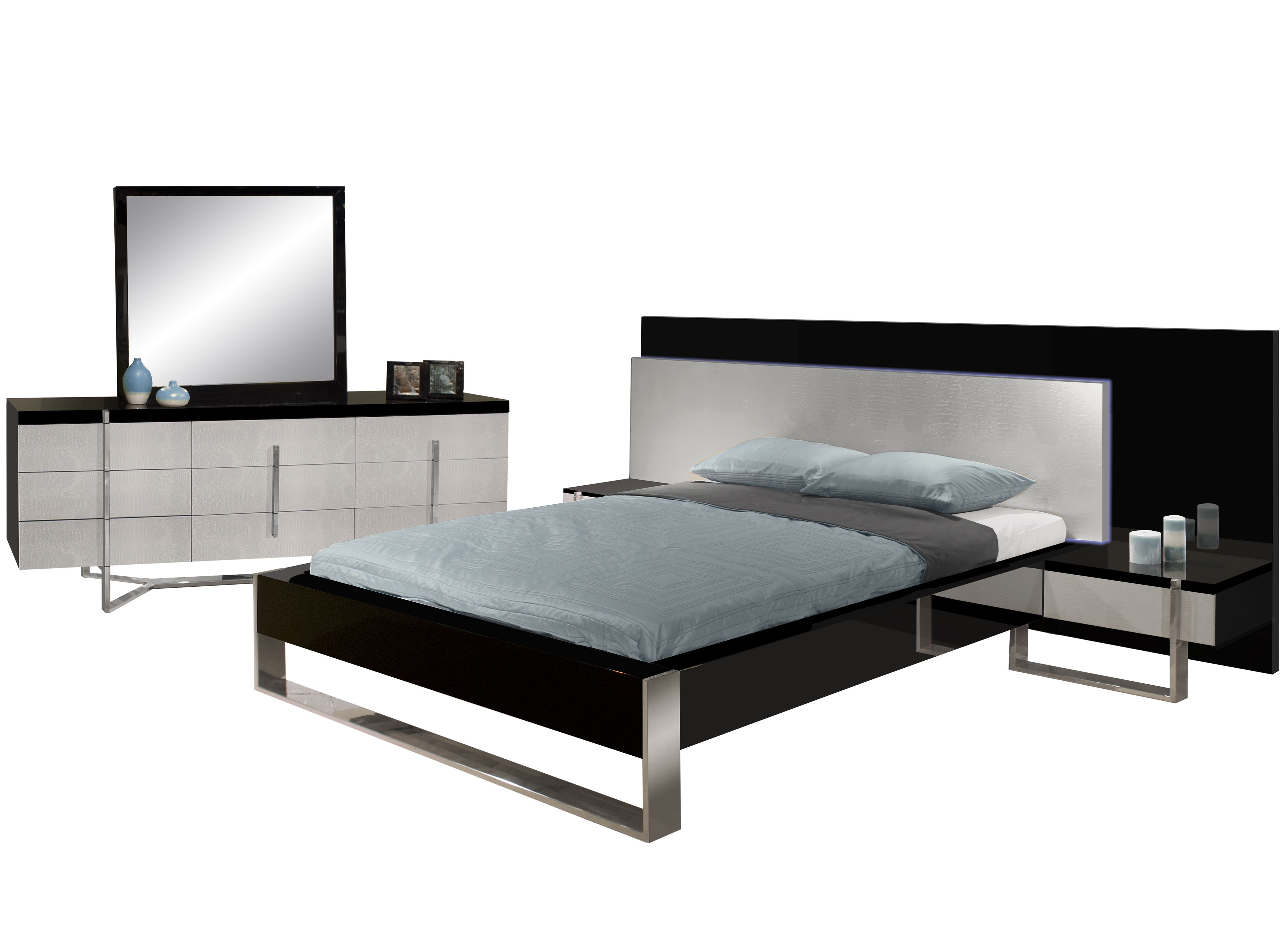 Martelli Bedroom Set - Truly unique black and gray ...