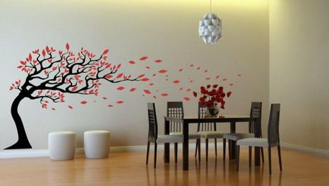 Nature Wall Stickers In Dining Room