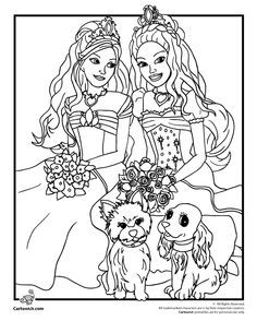 Printable Barbie Rock N Royal Coloring Page