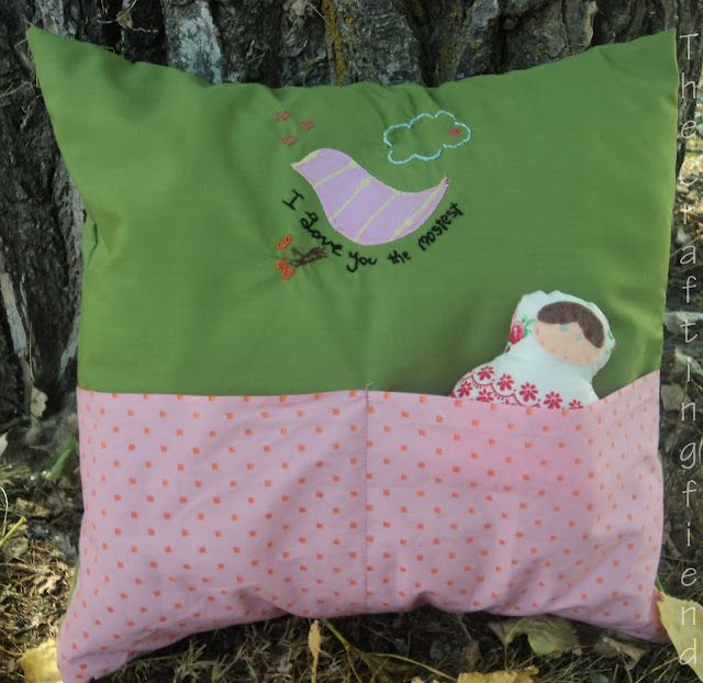I LOVE you the Mostest ! (Pocket pillow tutorial with patterns)