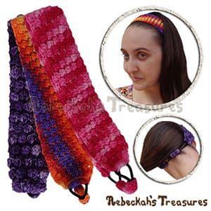 Pebble Bobbles Headband | 12 BEST FREE Crochet Patterns by @beckastreasures from 2016