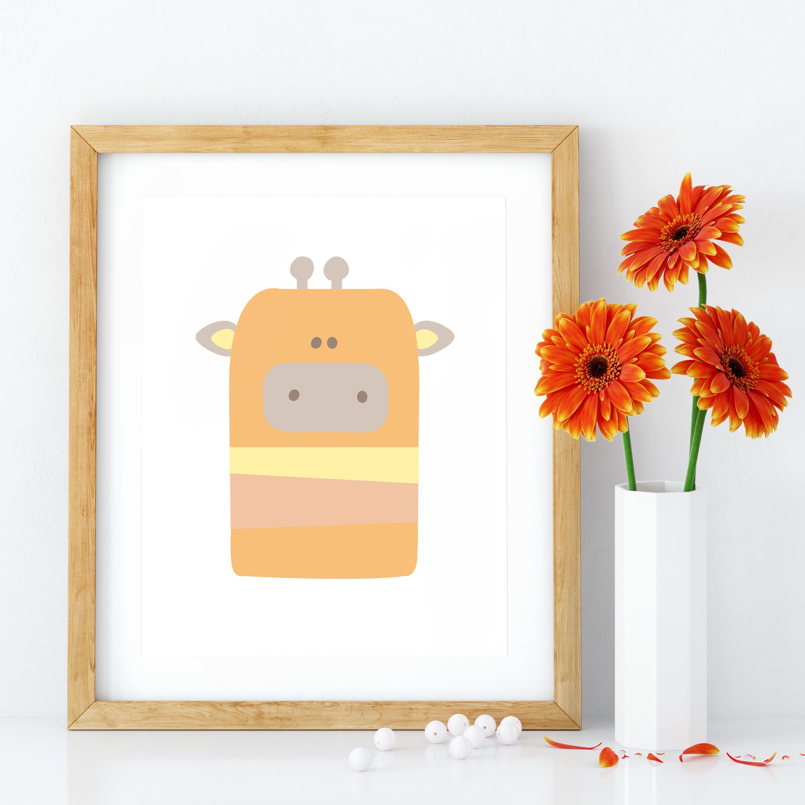 Nursery wall art, Baby Animal Print, Animal Nursery Decor, Animal ...