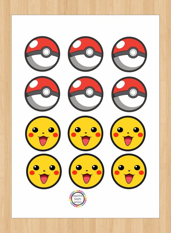 image relating to Pokemon Cupcake Toppers Printable identify Pokemon Cupcake Toppers/ Pokemon Stickers/ Pokemon Labels