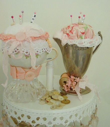pin cushions by Vintage Dragonfly!