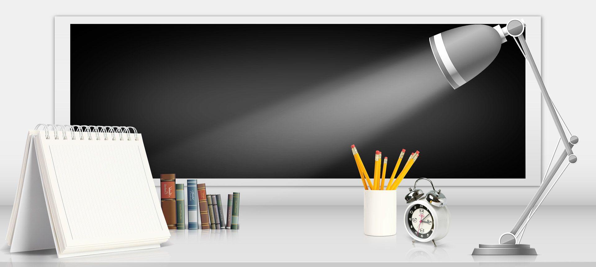 الخلفية التعليمية Study Table Page Borders Design Infographic Design Template