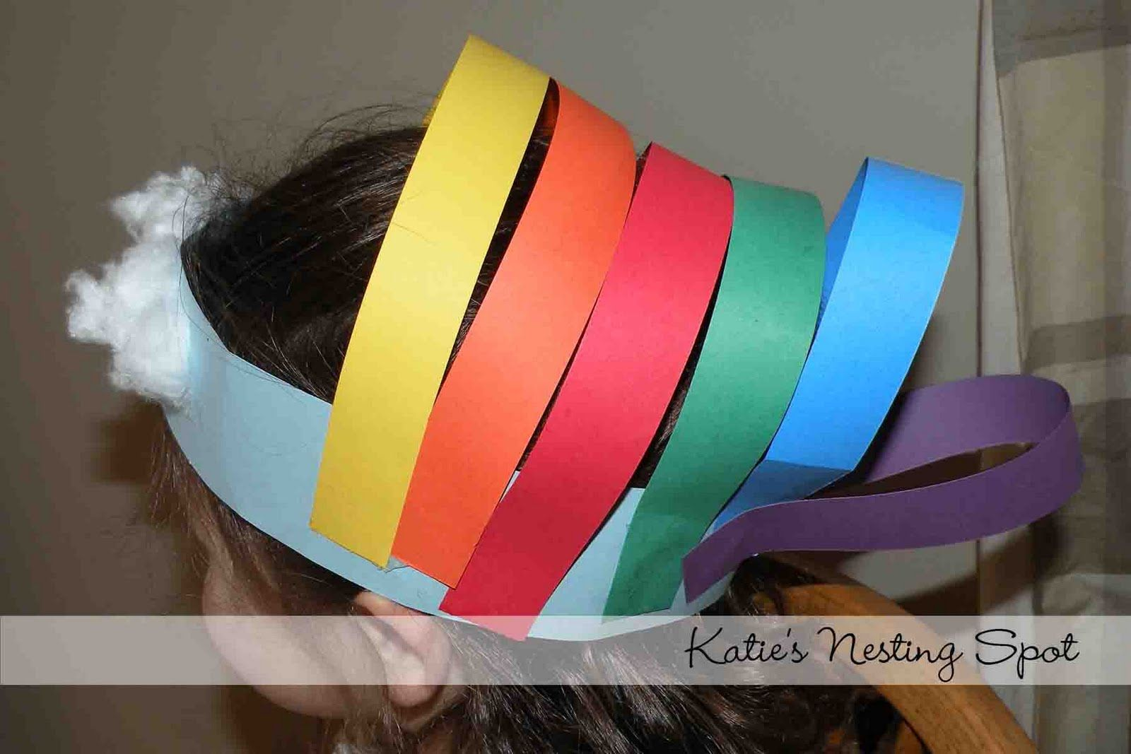 Katie S Nesting Spot Rainbows Everywhere Preschool Art