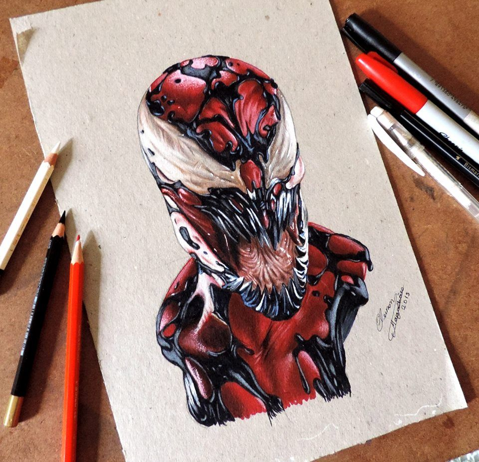 Carnificina Marvel Drawing Desenhos Realistas Desenhos