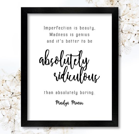 Quotes About Imperfection Marilyn Monroe Instant Download Quote Imperfection Is Beauty Saying .