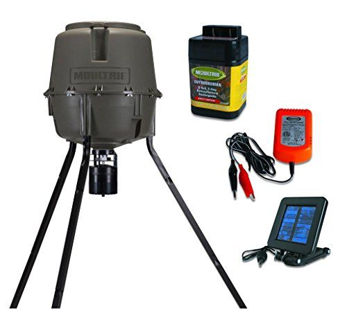 Moultrie 30 Gallon Pro Lock Tripod Feeder Solar Panel