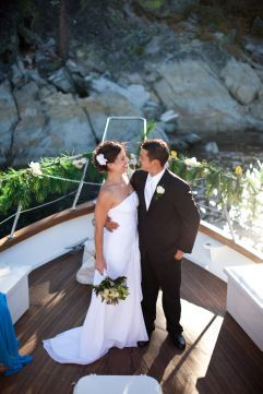 Tahoe Boat Wedding