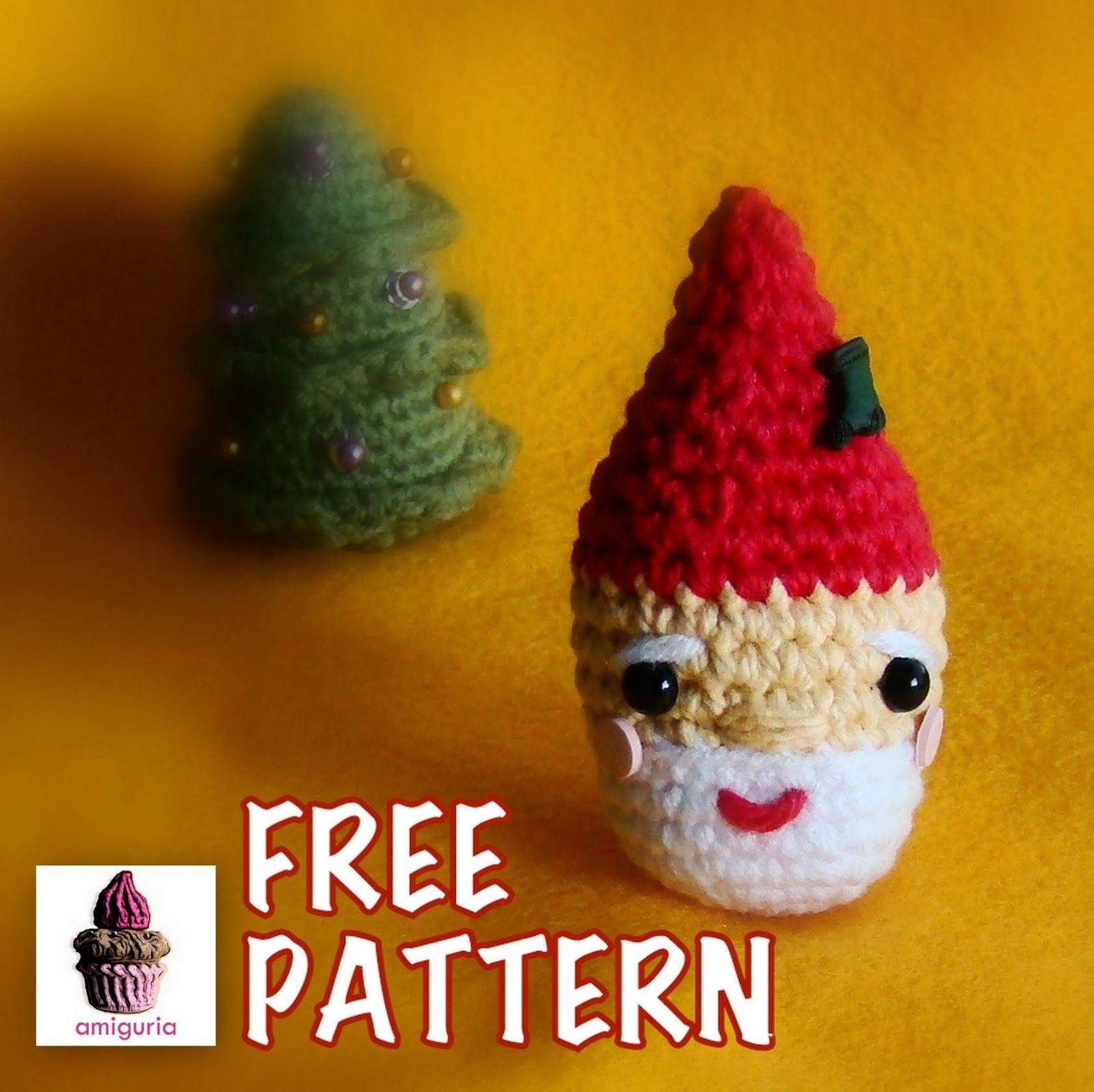 amiguria amigurumi: Free Pattern Santa Ornament | Christmas ...