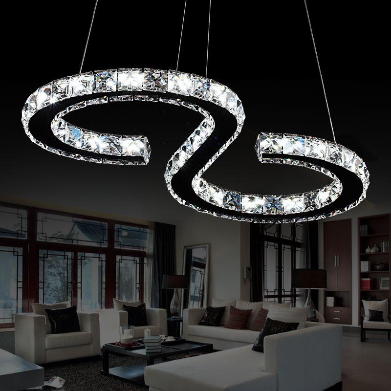 Modern Led Crystal Chandelier Lights Lamp For Living Room Cristal Re Chandeliers Lighting Pendant Hanging Ceiling
