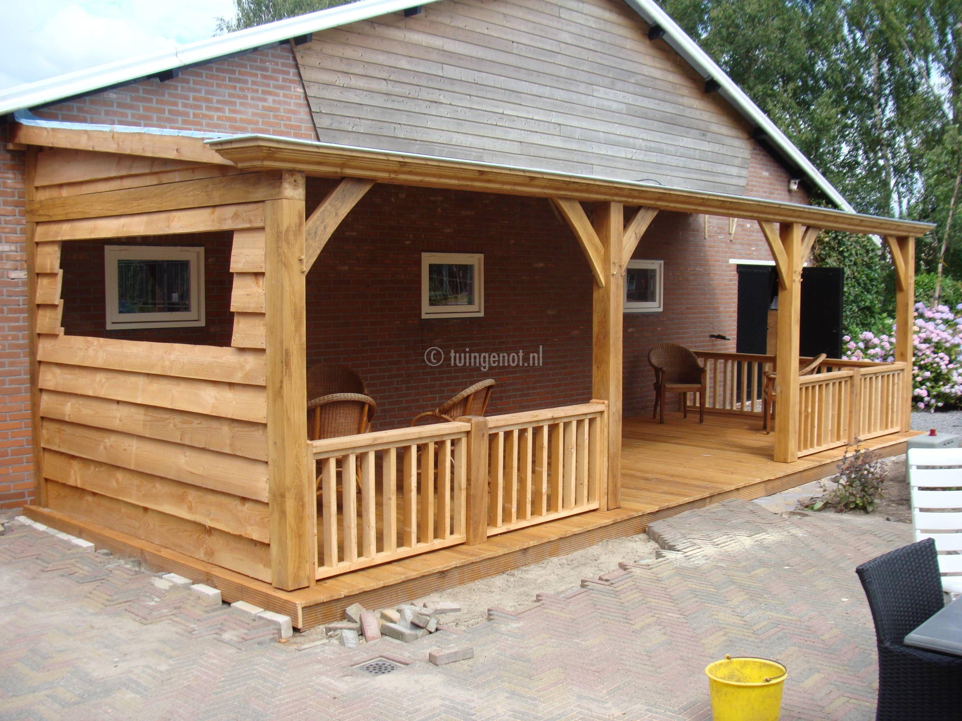 46 compleet luxe eiken houten veranda house plans - Maison jardin house plan villeurbanne ...