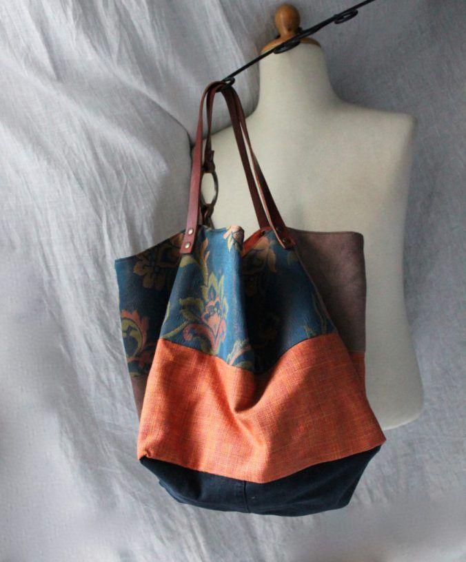 a31020104b TEKOA MILANO | handmade in Italy - Borsa in tessuto e pelle by TEKOA MILANO